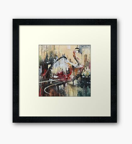 THE LAKE CITY Framed Print