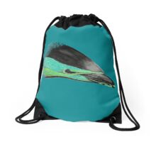 Common Dolphin (version green/turquoise) Drawstring Bag