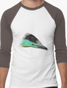Common Dolphin (version green/turquoise) Men's Baseball ¾ T-Shirt