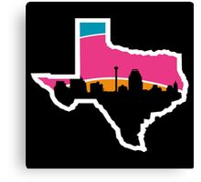 San Antonio Skyline Spurs Canvas Print