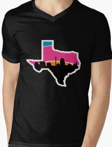 San Antonio Skyline Spurs Mens V-Neck T-Shirt