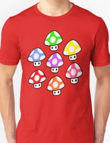 Colorful Mario Mushrooms T-Shirt