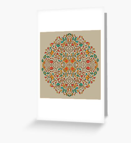 - Oriental flower pattern - Greeting Card