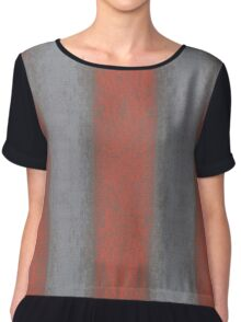 """Grey and orange stripes"" abstract pattern, pastel texture, handdrawn,  Chiffon Top"