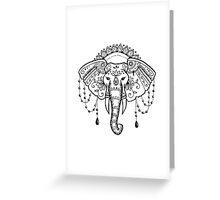 Mehndi Elephant Greeting Card