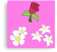 My little Pony - Roseluck + Daisy + Lily (Flower Shop) Cutie Mark Canvas Print