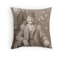 Butch Cassidy - Outlaw Portrait Throw Pillow