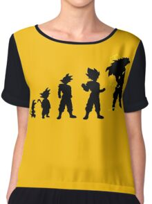 Songoku evolution  Chiffon Top