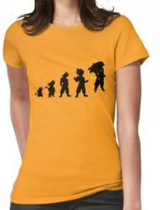 Songoku evolution  Womens Fitted T-Shirt