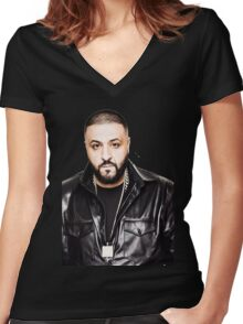 DJ Khaled Women's Fitted V-Neck T-Shirt