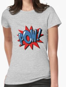 Comics Bubble with Expression Pow in Vintage Style. Womens Fitted T-Shirt