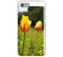 yellow and pink tulips iPhone Case/Skin