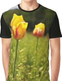 yellow and pink tulips Graphic T-Shirt