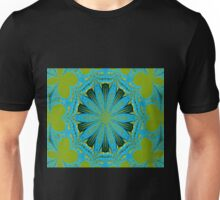 Lime Blue Abstract Unisex T-Shirt