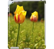 yellow and pink tulips iPad Case/Skin