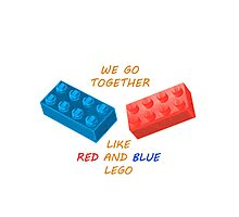 We go together like LEGO Photographic Print