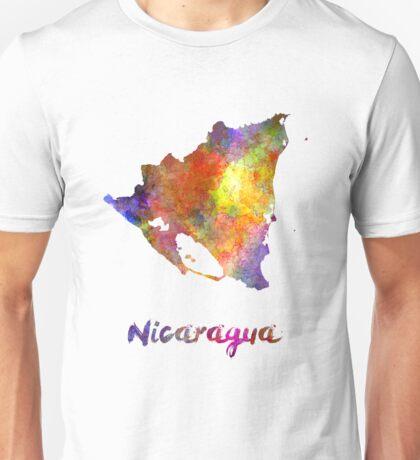 Nicaragua in watercolor Unisex T-Shirt