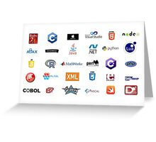 programming languages logos lenguajes programacion Greeting Card