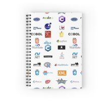 programming languages logos lenguajes programacion Spiral Notebook