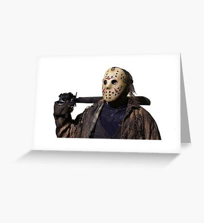 Jason Voorhees Greeting Card
