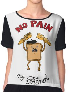 No Pain No French Colored Chiffon Top