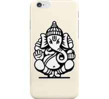 Ganesh Ganesa Ganapati 4 (black white) iPhone Case/Skin