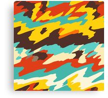 Wavy retro  texture Canvas Print