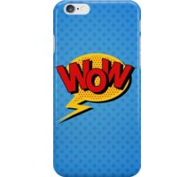 Comics Bubble with Expression Wow in Vintage Style. iPhone Case/Skin