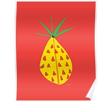 Red Hot Pineapple Poster