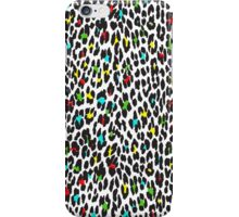 Animal Print, Spotted Leopard - Yellow Blue Green  iPhone Case/Skin