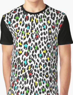 Animal Print, Spotted Leopard - Yellow Blue Green  Graphic T-Shirt