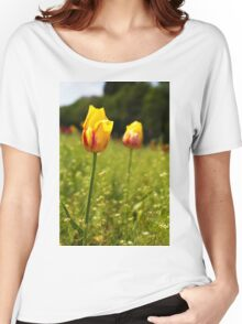 yellow and pink tulips Women's Relaxed Fit T-Shirt