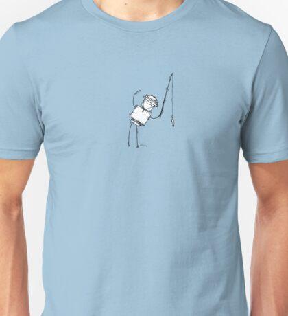 EN the robot - white BG Unisex T-Shirt