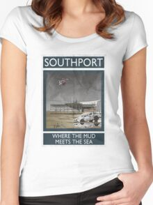 Southport - Where The Mud Meets The Sea Women's Fitted Scoop T-Shirt