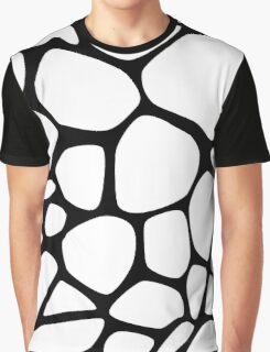 Animal Print (Giraffe Pattern) - Black White  Graphic T-Shirt