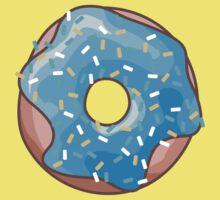 Cute Blue Donut One Piece - Short Sleeve