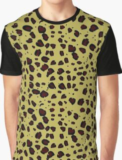 Animal Print, Spotted Cheetah - Black Yellow  Graphic T-Shirt