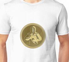 Kendo Swordsman Gold Medal Retro Unisex T-Shirt