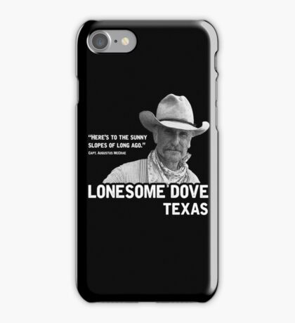 The Sunny Slopes of Long Ago - Lonesome Dove iPhone Case/Skin