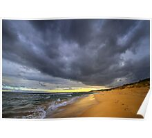 Low clouds - Lonsdale Beach Poster