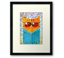 Summer Cat in glasses Framed Print