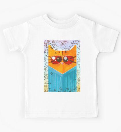 Summer Cat in glasses Kids Tee