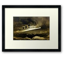 An old style digital painting of RMS Queen Mary Framed Print