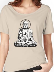 Young Buddha (black white) Women's Relaxed Fit T-Shirt
