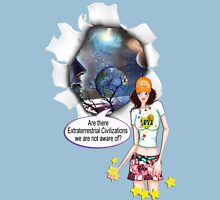 Are there Extraterrestrial Civilizations we are not aware of? Womens Fitted T-Shirt