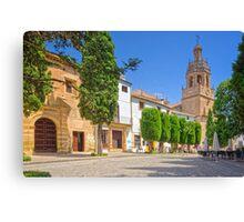 Plaza Duquesa de Parcent - Ronda - Andalucia - Spain Canvas Print