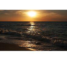 sunset at the sea on autumn Photographic Print
