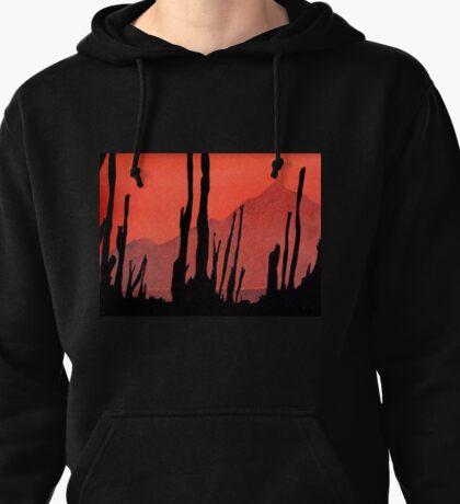 Desert Cactus Silhouette Pullover Hoodie