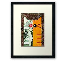Robotic Cat Framed Print
