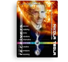 tesla information Canvas Print